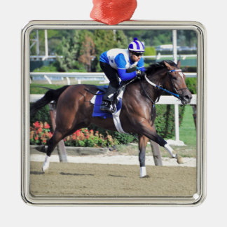 Belmont Park Workouts Metal Ornament