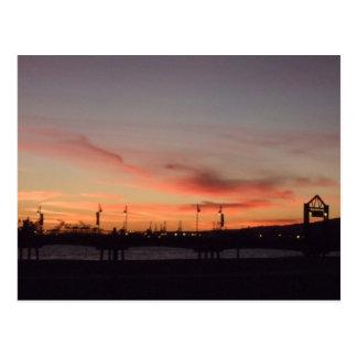Belmont Sunset Postcard
