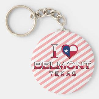 Belmont Texas Keychain