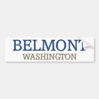 Belmont Washington Bumper Sticker