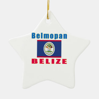 Belmopan Belize capital designs Double-Sided Star Ceramic Christmas Ornament