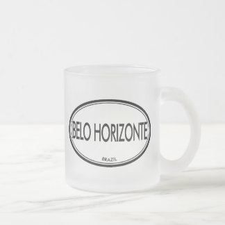 Belo Horizonte, Brazil Frosted Glass Coffee Mug