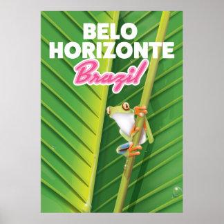 Belo Horizonte, Brazil travel poster