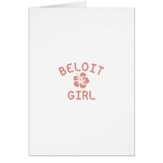 Beloit Pink Girl Greeting Card