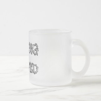 Belong To Beloved Frosted Glass Coffee Mug
