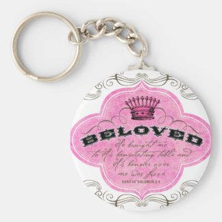 Beloved Basic Round Button Keychain