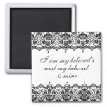 Beloved Black Lace Magnet