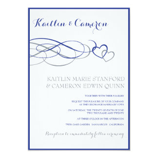 Beloved (Horizon Blue & Silve) Wedding Invitations