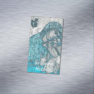 Beloved Mother Virgin Mary Jesus Christ Vintage Business Card Magnet