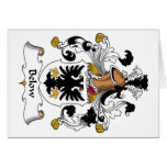 Below Family Crest Greeting Card