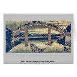 Below Mannen Bridge by Katsushika,Hokusai Cards
