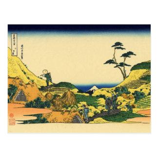Below Meguro (by Hokusai) Postcard