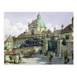 Below the Belvedere Palace in Vienna Postcard