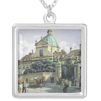 Below the Belvedere Palace in Vienna Silver Plated Necklace