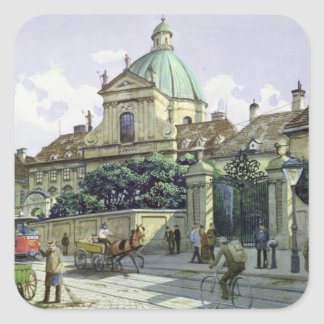 Below the Belvedere Palace in Vienna Square Sticker