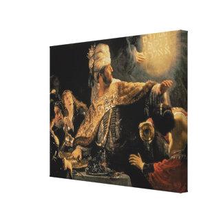 Belshazzar's Feast c.1636-38 Canvas Print