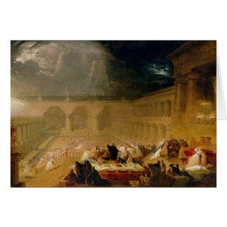 Belshazzar's Feast (oil on canvas) Card