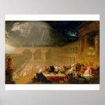 Belshazzar's Feast (oil on canvas) Print