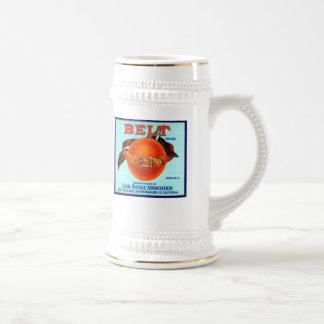 Belt Brand Oranges Beer Stein