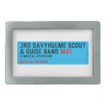 3rd Davyhulme Scout & Guide Band  Belt Buckle