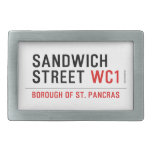 Sandwich Street  Belt Buckle