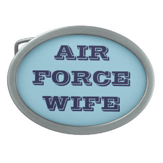 Belt Buckle Air Force Wife