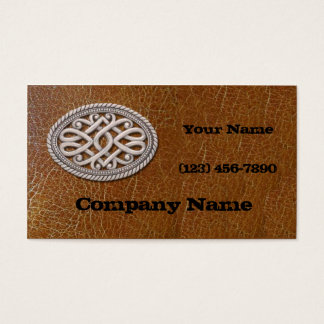 Belt Buckle and Leather Business Card