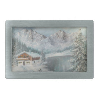 Belt Buckle Ann Hayes Painting Bavarian Snow Dream