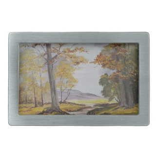 Belt Buckle Ann Hayes Painting Forest Stream