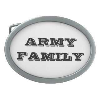 Belt Buckle Army Family