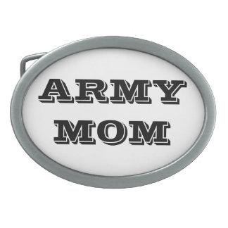Belt Buckle Army Mom