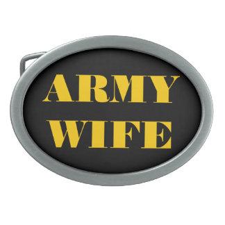 Belt Buckle Army Wife