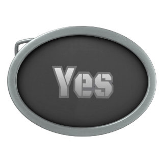 Belt Buckle Black with Yes wording