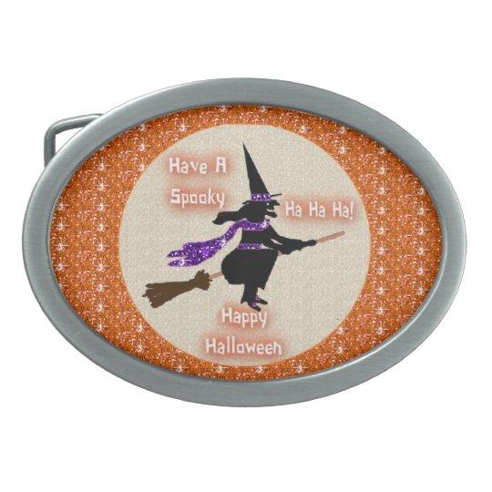 Belt Buckle Broom Stick Witch