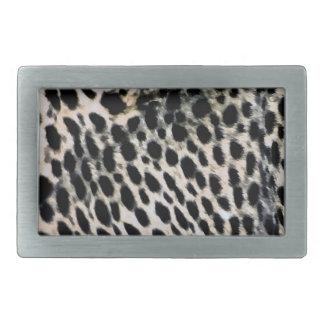 Belt Buckle, Cheetah Print, Black & White