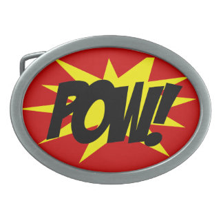 Belt Buckle, Comic Book Style POW!