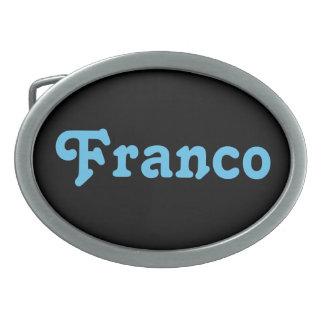 Belt Buckle Franco