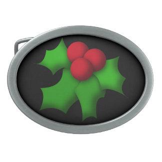 Belt Buckle, Funny Mistletoe Design