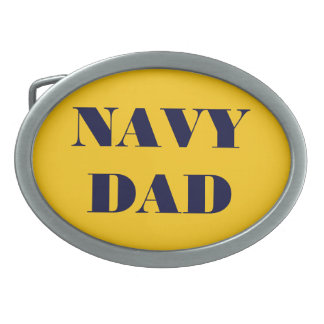 Belt Buckle Navy Dad