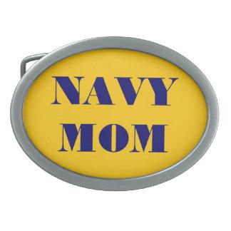 Belt Buckle Navy Mom