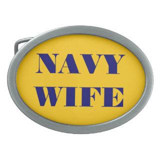 Belt Buckle Navy Wife