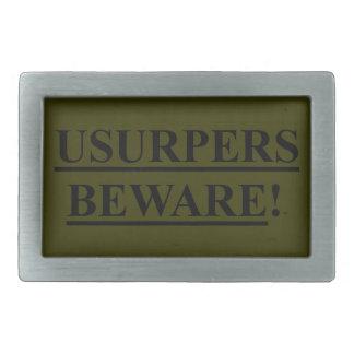 Belt Buckle OD Green w/ USURPERS BEWARE!