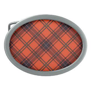 Belt Buckle Oval Scottish tartan - Wemyss