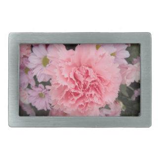 Belt Buckle Pink Carnation Beauty