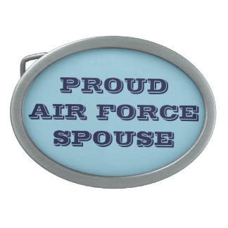 Belt Buckle Proud Air Force Spouse