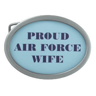 Belt Buckle Proud Air Force Wife