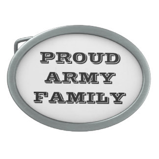 Belt Buckle Proud Army Family