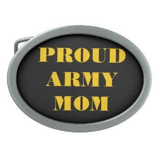 Belt Buckle Proud Army Mom