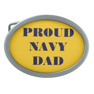 Belt Buckle Proud Navy Dad