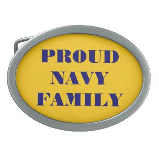 Belt Buckle Proud Navy Family